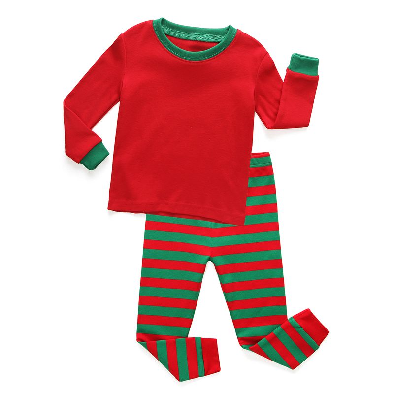 fashion new children red and green striped pajamas family christmas pajamas  kids pyjamas pijmas for girls 2-8years sleepwear 3cca3ccacc8a