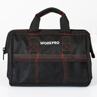 Free Shipping WORKPRO 13 Inch Multifunction Tool Kit Bag Combo Zip Top Wide Open Mouth Storage
