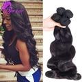 Aliexpress10A Brasileño Virgin Hair Body Wave 3 Bundles Armadura Del Pelo 100% Sin Procesar Humano Brasileño de la Onda Del Cuerpo del pelo humano teje