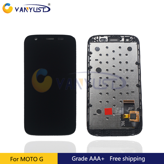 100% Tested  LCD Screen Touch Digitizer Assembly For Motorola G xt1032 xt1033 with frame Lcd Display Replacement