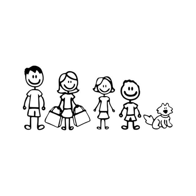 C7 1176 8 Cm Moda Somos Familia Coche Pegatina Dibujos