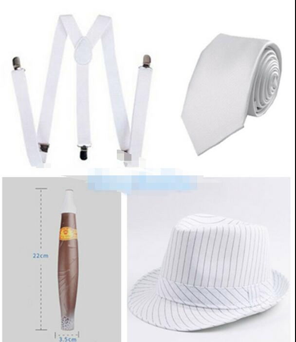 Details about  Mens 1920s 20s Gangster Set Hat Braces Tie Cigar Gatsby Kit Costume Accessories  4 -