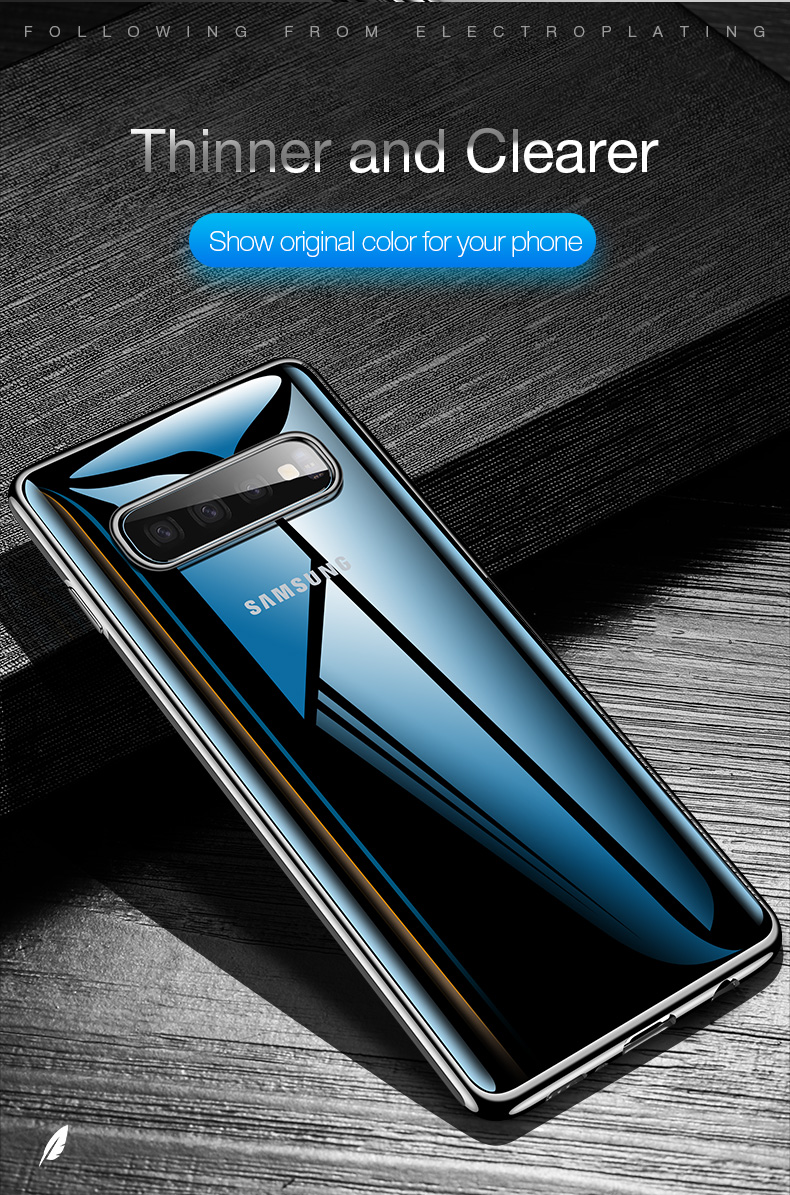 Cafele Plating Transparent Case for Samsung Galaxy S10 Plus S10e Cover Soft TPU Thin Silicon Case for Samsung S10 S10Plus S10e (2)