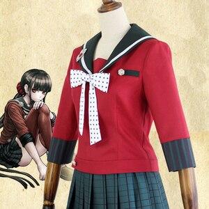 Image 3 - Nouveau 6 pièces Danganronpa V3 tuer harmonie Harukawa Maki uniforme scolaire femmes fille Cosplay ensemble de costumes et perruque déguisement dhalloween