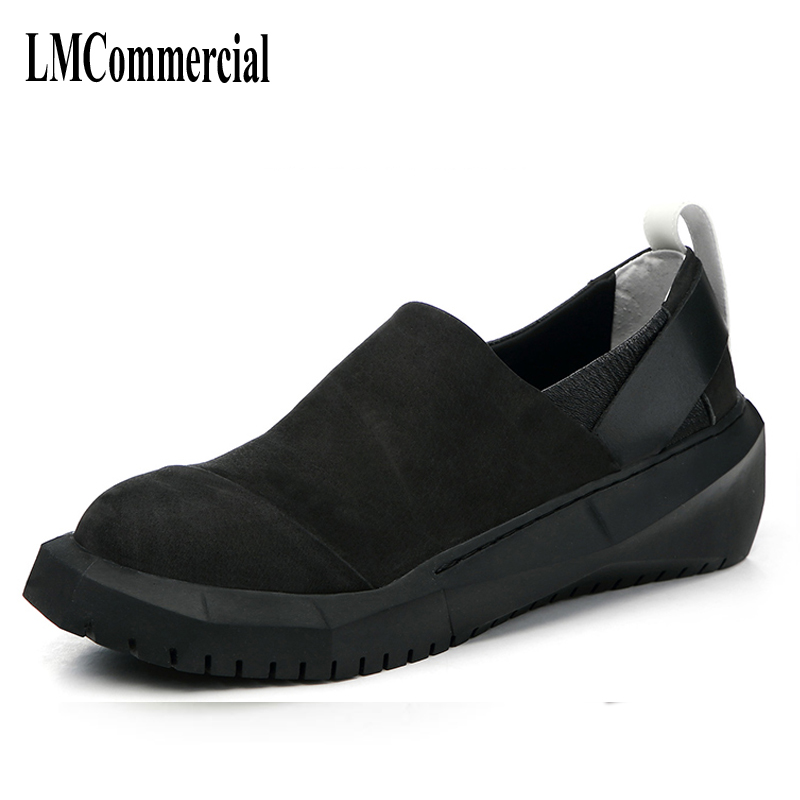Mens Casual chaussures avec semelles épaisses pour hommes chaussures en cuir chaussures en cuir muffin tendance mâle Coréen de mode catwalk chaussures en angleterre
