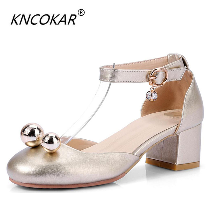 KNCOKAR2018Baotou sandal women in the summer, the heel of a single shoe heel is the size of the student lady shoe sizeKNCOKAR2018Baotou sandal women in the summer, the heel of a single shoe heel is the size of the student lady shoe size