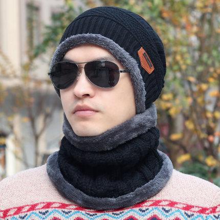 25c7ae4ff02 New Fashion Hats Men Winter Wool Ski Hat scarf Set Head hooded Cap Earmuffs  Head Caps Male beanie mask balaclava gorro masculino 23.6 ₪