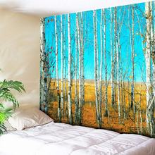 Tranquil Woods and Blue Sky Print Wall Art Tapestry Large Mandala Indian Tapestry Wall Hanging 3D Painting Bohemian Wall Carpets все цены