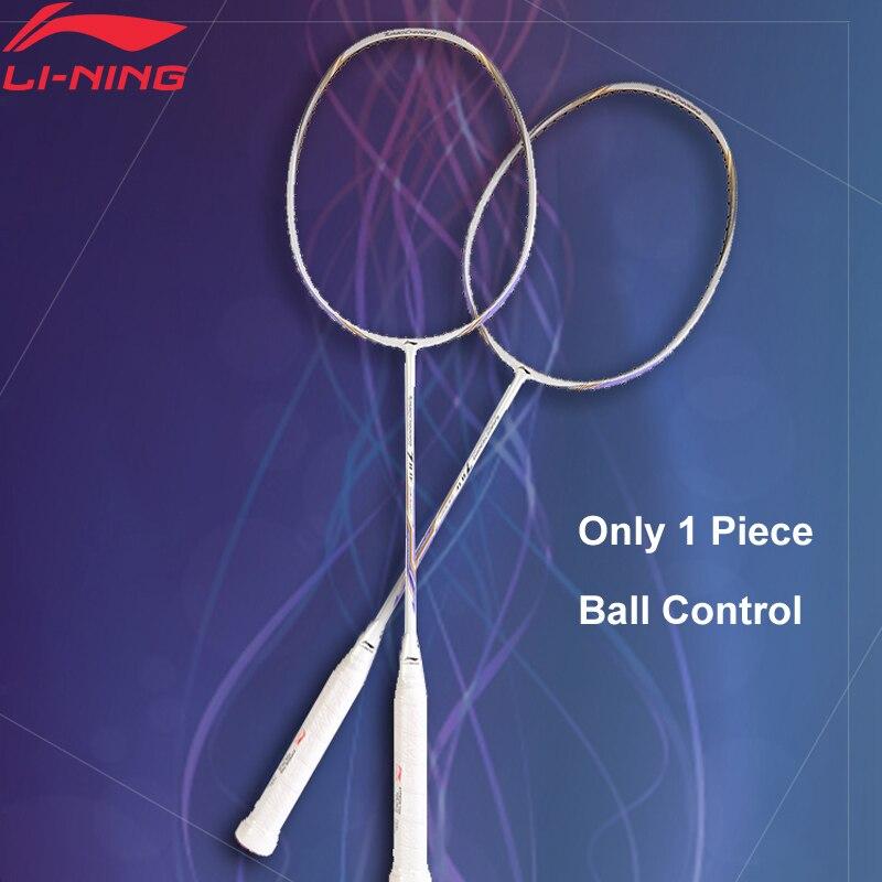 Li-Ning Turbo Charge 10 Professionnel Badminton Raquette Unique Raquette Doublure Équipement de Sport Raquette AYPM326 (AYPM406) ZYF245