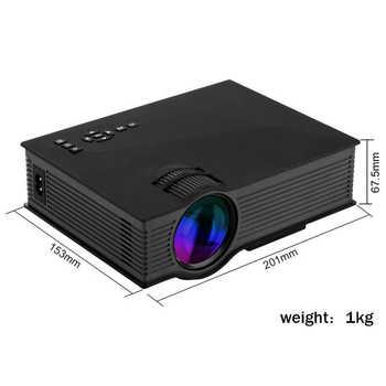 Salange ミニビデオプロジェクター UC46 800 × 480 1200 ルーメン LED プロジェクターホームシネマ WIFI サポート Miracast/エアプレイフル HD Proyector
