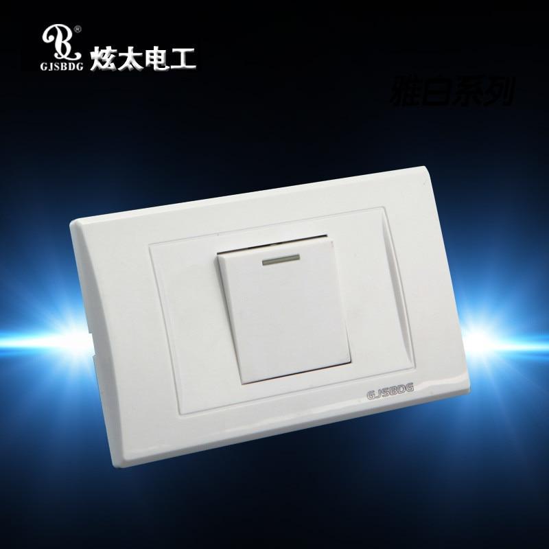 Wholesale 1pcs 1 Gang 2 Way Wall Switch Light Switch GJSBDG Panel ...