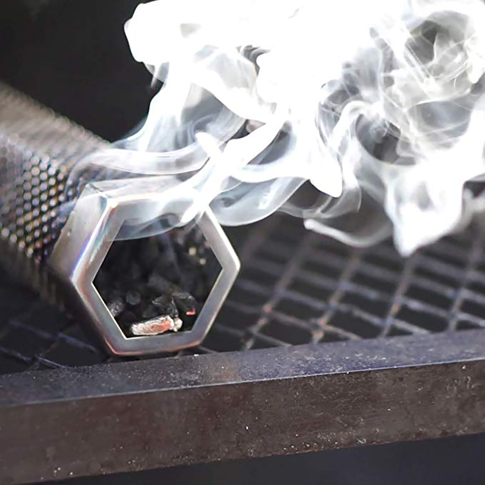 12 Inch Stainless Steel BBQ Wood Pellet Smoker Tube Smoked Mesh Pipe Net Tube Outdoor Cooking Barbecue Grill Tool image