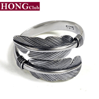 2016 New Arrival Takahashi Feather Open Classic Ring 100 Real 925 Sterling Silver Fashion Jewelry For