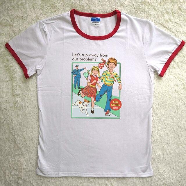 1d1ea475c 2018 Graphic Tees Short Sleeved Summer Cotton Vintage Printed Humor T shirts  Plus Size Tumblr Tops Harajuku Kawail T shirt Women