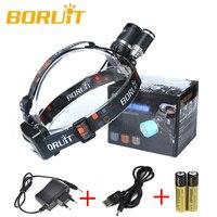 6000LM 3 x XM L T6 LED Headlight Headlamp Head Torch+18650+AC/USB Charger Camping Fishing Cycling Rock Climbing