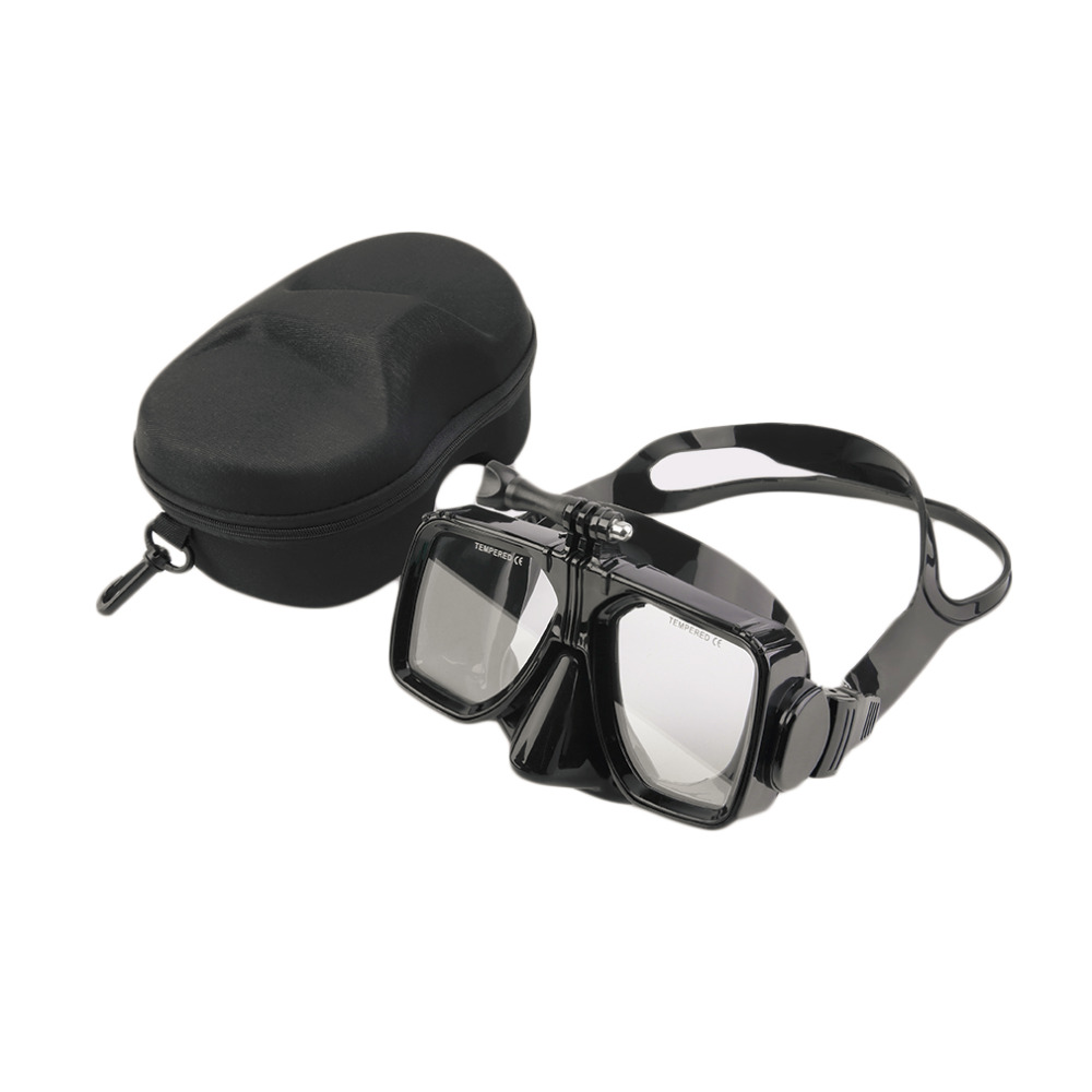 HWYHX Diving Mask Camera Mount Swimming Scuba Mask Diving Tempered Glass Goggles With Case free shipping hwcamera mount diving mask scuba snorkel swimming goggles for gopro hero 2 3 new arrival