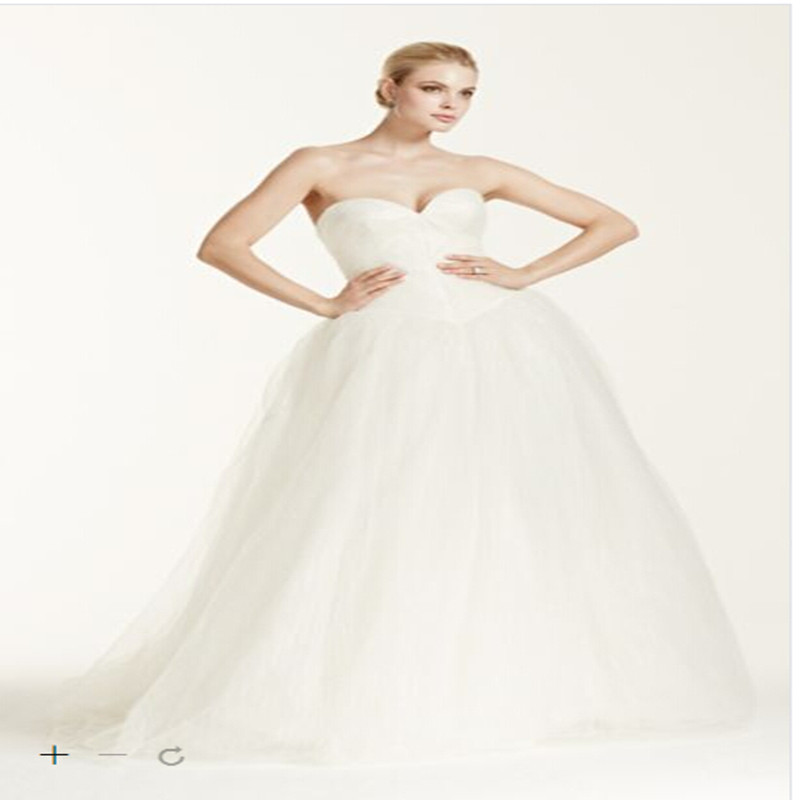 Wedding Ball Gowns Sweetheart Neckline: 2016 Tulle Ball Gown Wedding Dresses Sweetheart Neckline