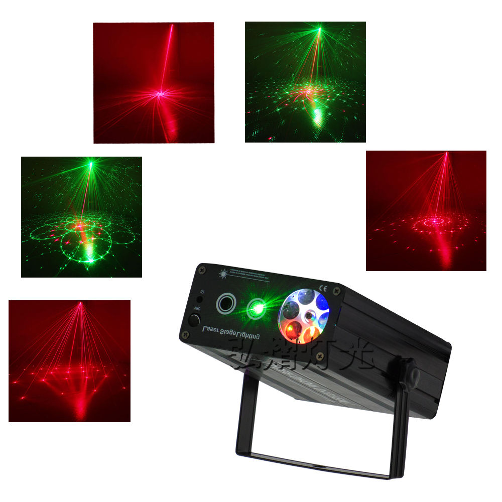 New High Quality Mini 2in1 effect R&G Audio stars Whirlwind Laser Projector Stage Disco DJ Club KTV family party light Show new stage effect mini laser light red disco laser effect projector light show system equipment for dj party ktv