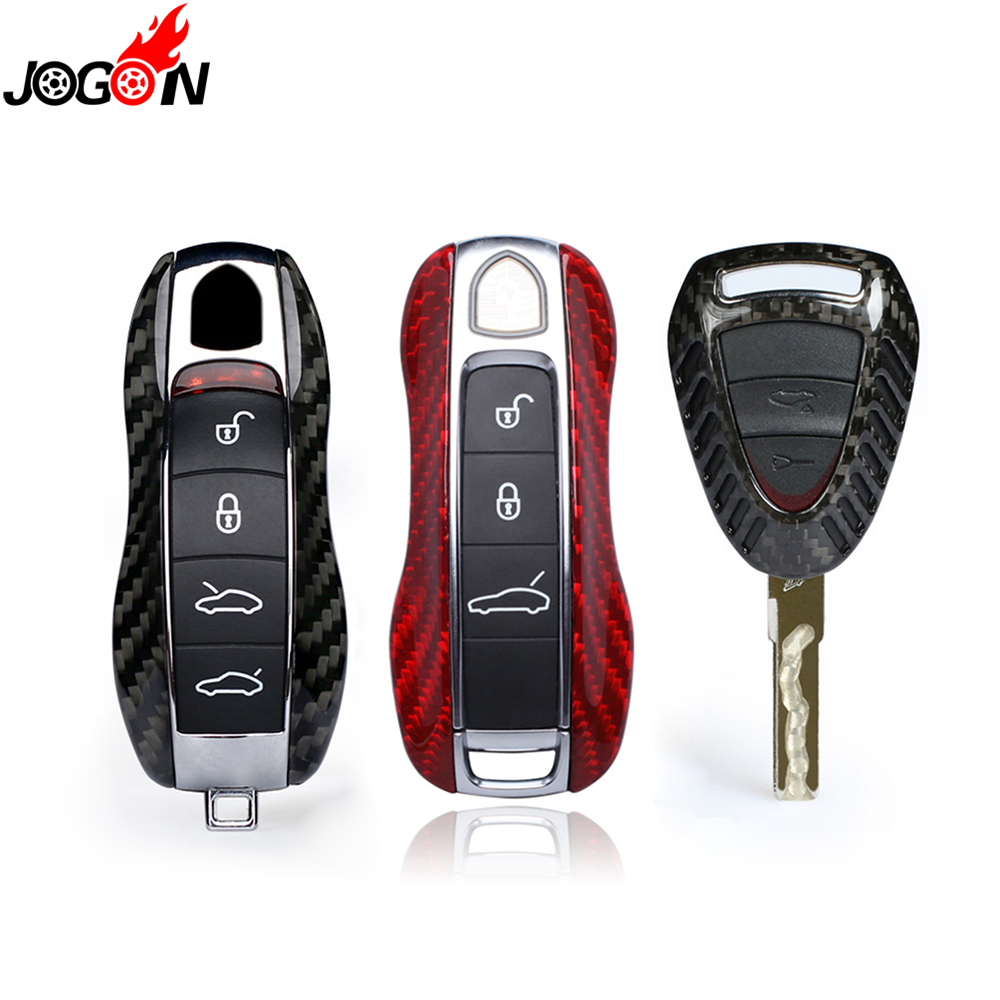 Carbon Fiber Remote Fob Key Case Shell Cover For Porsche Panamera 970 971 Cayenne Macan Boxster Cayman 981 982 718 991 911 918 колпаки porsche 911 panamera macan