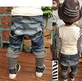 JK-028 Retail 2017 niños pantalones vaqueros primavera nuevo diseño niños harem niños pantalones moda niños usa hipping libre