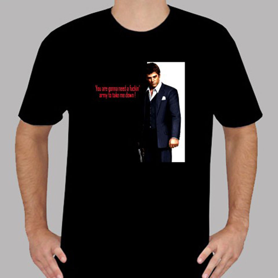 The Godfather Profile Adult T Shirt Classic Gangster Movie