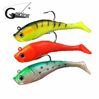 20cm 300g 1pcs 3D Eyes Lead Fishing Lures with T Tail Soft Fishing Lure Single Hook Baits Artificial Bait Jig Wobblers Rubber