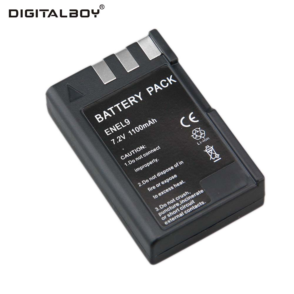 1pcs Camera Battery 7.2V 1100mAh EN-EL9 EN EL9 ENEL9 Rechargeable Camera Battery For Nikon EN-EL9a D40 D40X D60 D3000 D5000 зарядное устройство для фотокамеры oem mh 23 nikon en el9 d5000 d3000 d60 d40 d40x d5000 dslr d40 10 mh 23
