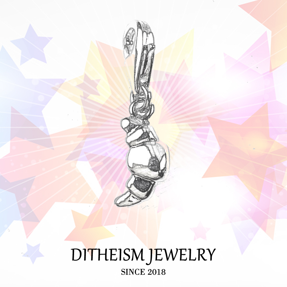 Croissant Charms Pendant,2018 Fashion Jewelry 925 Sterling Silver Trendy Gift For Women Men Boy Girls Fit Bracelet Necklace Bag