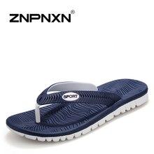ZNPNXN New 2016 Summer Men Sandals, High-quality Soft Beach Flip Flops EVA Massage Slippers For Men's sandals Size:40-45