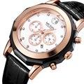 Модные Лидирующий бренд Megir женские элегантные кварцевые секундомер водонепроницаемые светящиеся хронограф 24-часовые наручные часы для же...