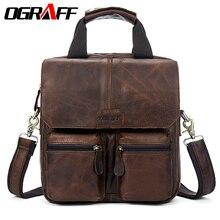 OGRAFF Männer taschen Handtaschen Umhängetasche Männer Leder Handtaschen Männliche Echte Leahter Tasche Marke Designer Aktentasche Umhängetaschen Männer