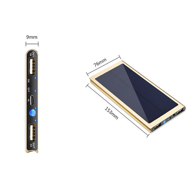 Solar 20000mah Ultra-thin Power Bank 4