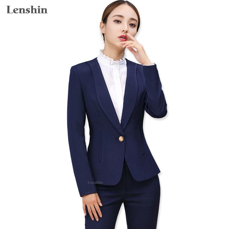 Special Section Lenshin New Plus Size Professional Business Jacket For Women Work Wear Office Lady Elegant Female Blazer Coat Top Blazers Women's Clothing