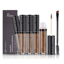 Womens Liquid Eyebrow Tint Brow Henna Enhancers Brush Kit Tattoo Gel Black Brown Pigments Eye Makeup Eyebrows