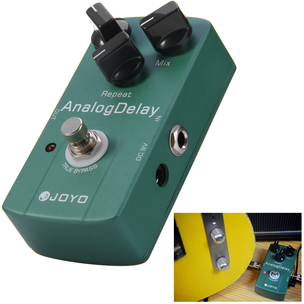 JOYO JF - 33 Electric Guitar Effect Pedal True Bypass Design Guitar Analog Delay Effect Pedal with Aluminul Alloy MaterialJOYO JF - 33 Electric Guitar Effect Pedal True Bypass Design Guitar Analog Delay Effect Pedal with Aluminul Alloy Material