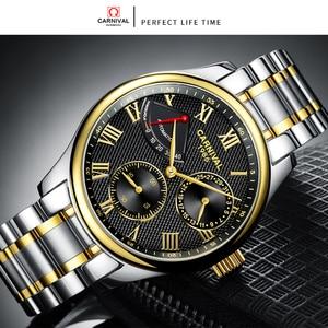 Image 3 - Часы наручные Seiko мужские механические, брендовые Роскошные с автоматическим движением t Carnival, с ремешком из нержавеющей стали