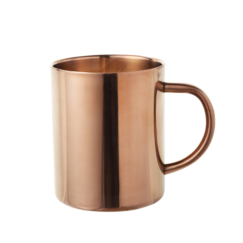 Nordic Style Brass Gold Double Insulation And Anti Hot Stainless Steel Copper Mug Cup Coffee Readily Rose Container In Mugs From Home Garden