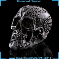 Halloween Skull Cranium Hollow Model Figures Fairy Garden Miniature Succulents House Figurine Decoration Aquarium Ornaments