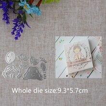 2019 New Arrival Cute Sleeping Angel Child Cutting Dies Stencil DIY Scrapbook Embossing Decor  Craft Template 93X57mm