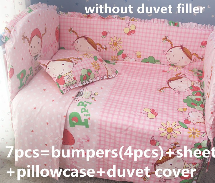ФОТО Discount! 6/7pcs baby bedding set curtain crib bumper crib bedding set ,120*60/120*70cm
