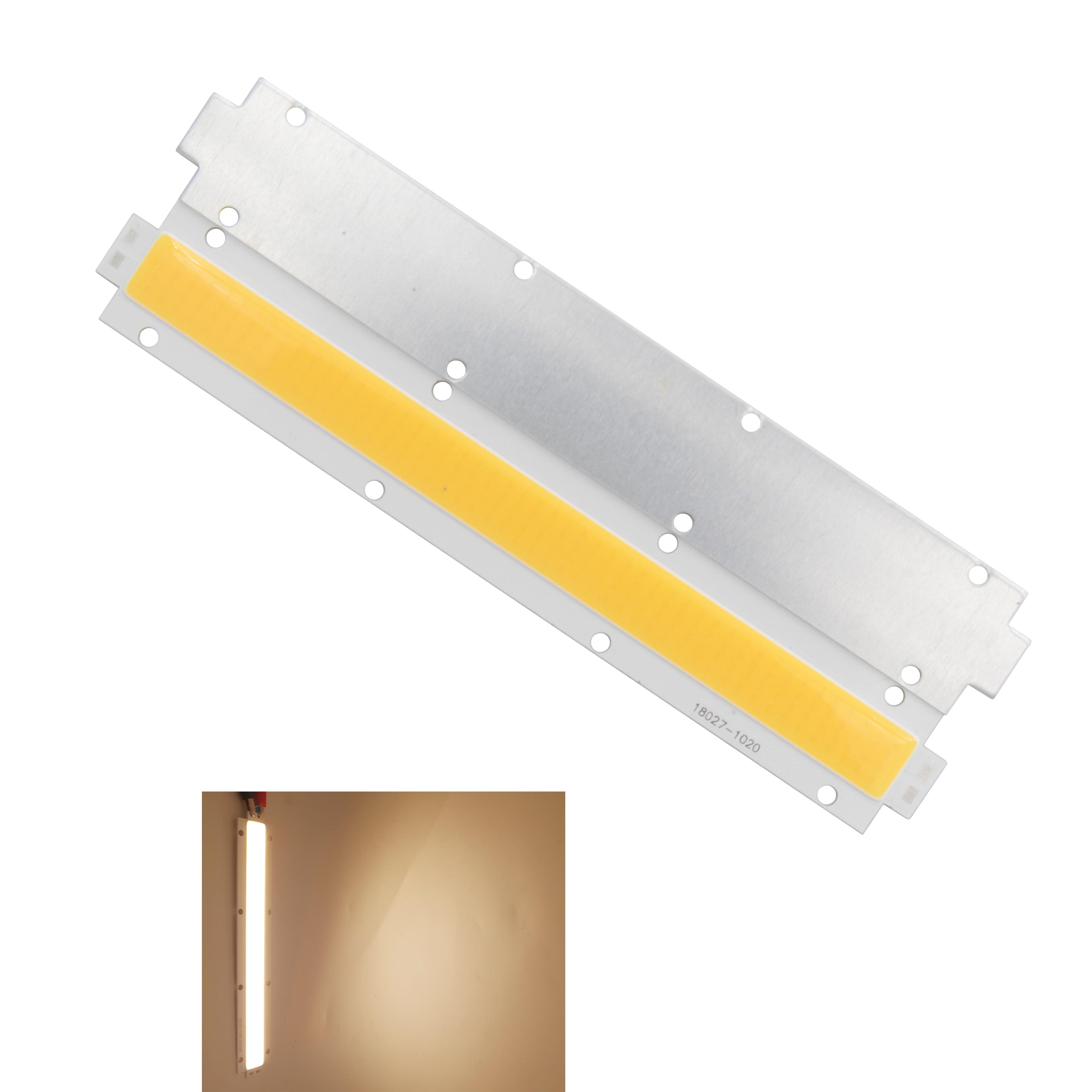 Купить с кэшбэком hot sale high power LED COB Strip 30-33V DC outdoor multifunction 100W 180mm 27mm Warm White LED FLIP Chip Light Source