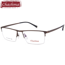 Chashma Brand Men Optical Eyeglasses Fashion Gentlemen Half Frame Prescription Spectacles for Male Alloy Frames