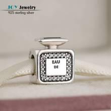 Se adapta Marca Encantos Pulseras Originales 925-Sterling-Silver Firma Aroma Botella de Perfume Perlas Con CZ Para La Fabricación de Joyas Diy