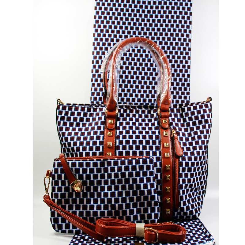 Derniers sacs de cire africaine de haute qualité sertis de 6 yards Ankara cire imprime tissu noir et blanc motif coton tissu pour robe
