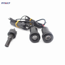 PFTKJCP 2/pcs Ghost Shadow Light  For Renault for Dacia  LED Car Logo Projector Car Emblem Welcome Door led Light drilling hole