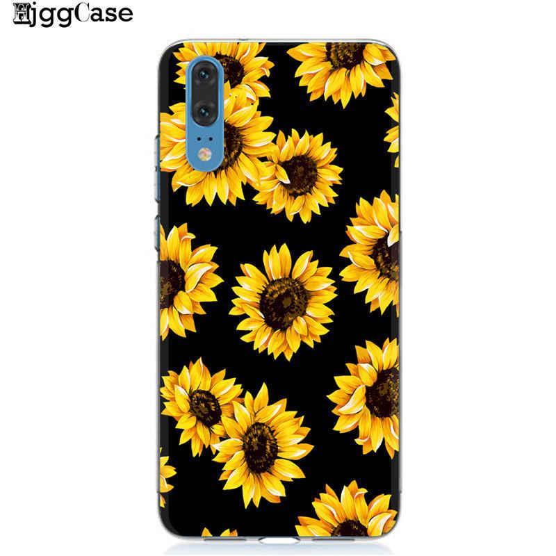 קיץ דייזי חמניות פרחוני פרח טלפון מקרה Coque עבור Huawei P20 P10 P30 Mate 10 20 לייט פרו כבוד 9 10 לייט 8X 8C Y9 2019