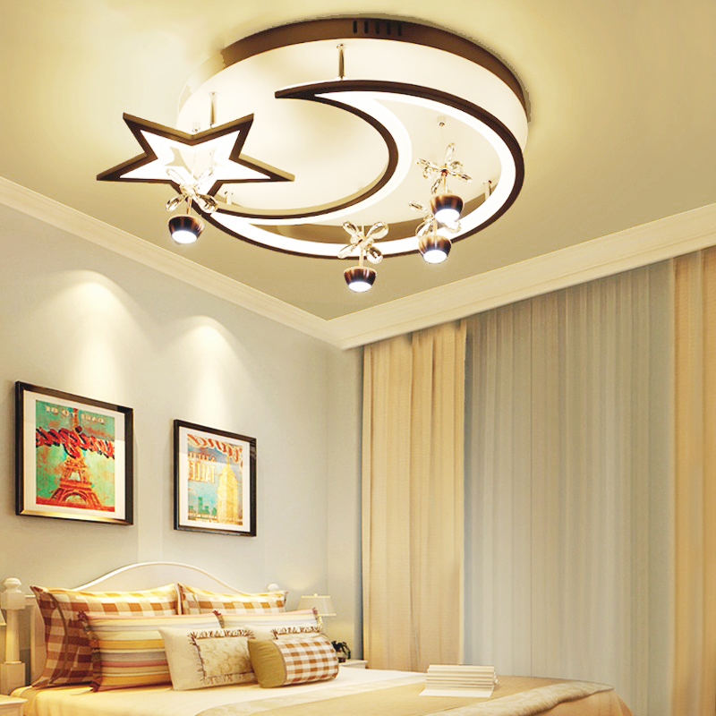 led Ceiling light Creative star half moon living room lamp childrens bedroom ceiling lamp small living room decorative lights