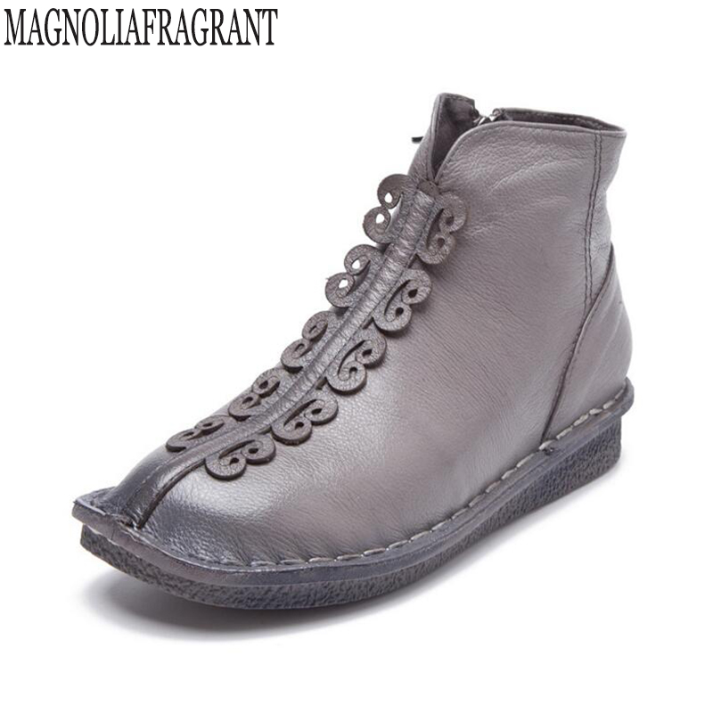 2017 Fashion Boots For Women Handmade Genuine Leather Ankle Shoes Vintage Mom Women Shoes Round Toes Martin Boots k473 tastabo 2017 fashion handmade boots for women genuine leather ankle shoes vintage mom women shoes round toes martin boots