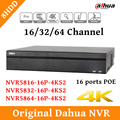 2017 English CCTV Dahua NVR 8CH Network Video Recorder NVR5816-16P-4KS2 NVR5832-16P-4KS2 NVR5864-16P-4KS2 Support Poe and 8HDD