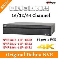 2017 English CCTV Dahua NVR 8CH Network Video Recorder NVR5816 16P 4KS2 NVR5832 16P 4KS2 NVR5864